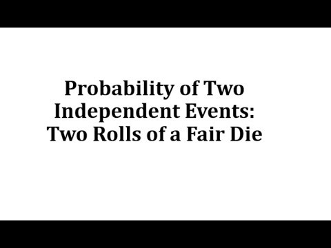 Probability of Two Independent Events: Two Rolls of a Fair Die thumbnail