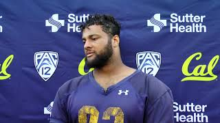 Cal Football Post Practice - DL Luc Bequette 9/30/19