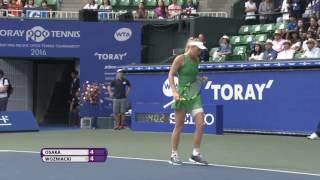 2016 Toray Pan Pacific Open Final Hot Shot | Carolina Wozniacki
