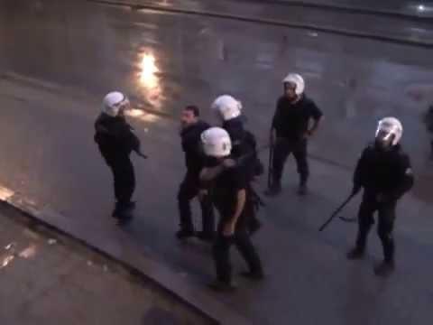 Polis ten ölümüne dayak kameralarda Taksim Gezi Parkı Olayları 19 Haziran