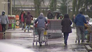 Puget Sound grocery stores packed as shoppers stock up on supplies amid coronavirus outbreak