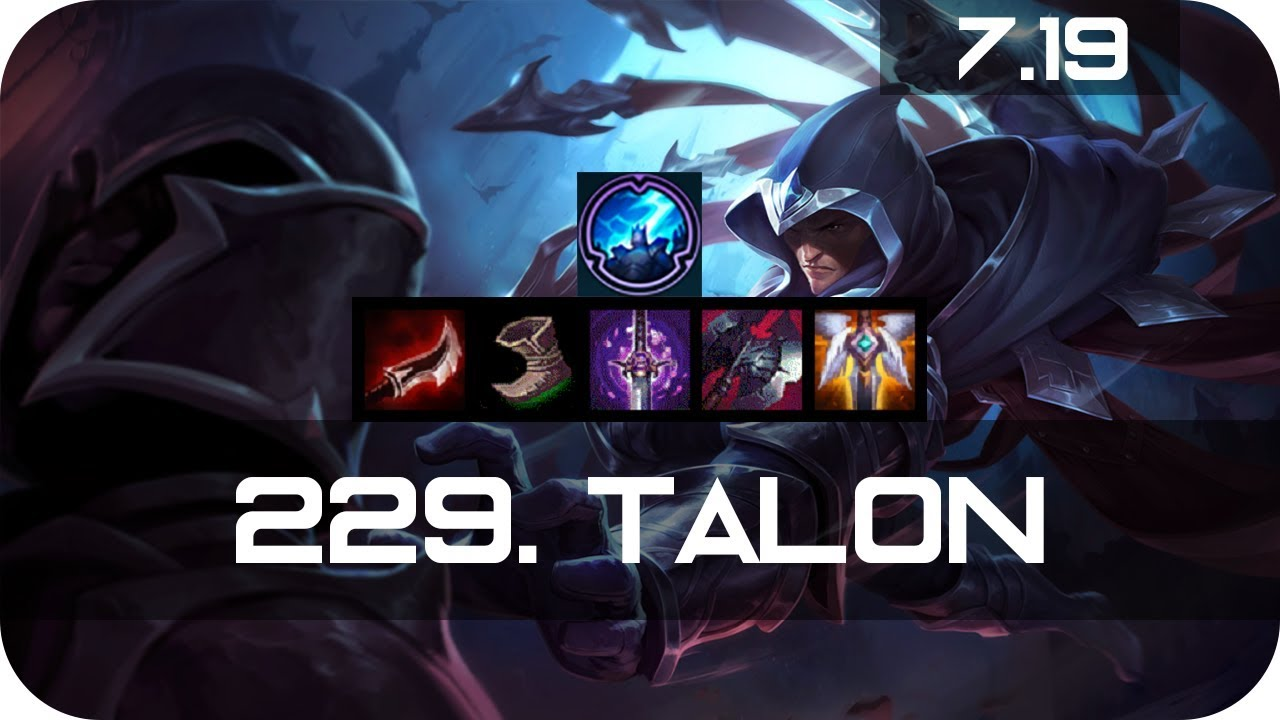Talon Mid Vs Kassadin Season 7 S7 Patch 7 19 2017 Gameplay Guide Build Ranked Youtube