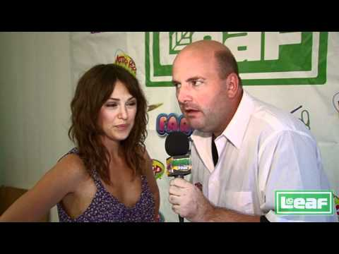 Elizabeth Hendrickson interviewed by Brian Whitman at the Leaf Brands Candy booth