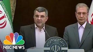 Watch: Coronavirus Symptom Plagues Iranian Official On live TV | NBC News