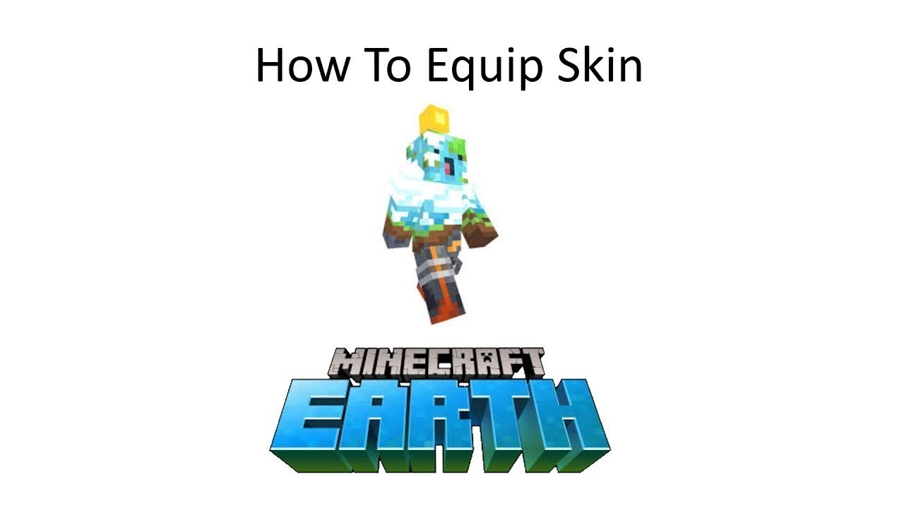 How to Equip and Get The EARTH Skin in Minecraft - YouTube