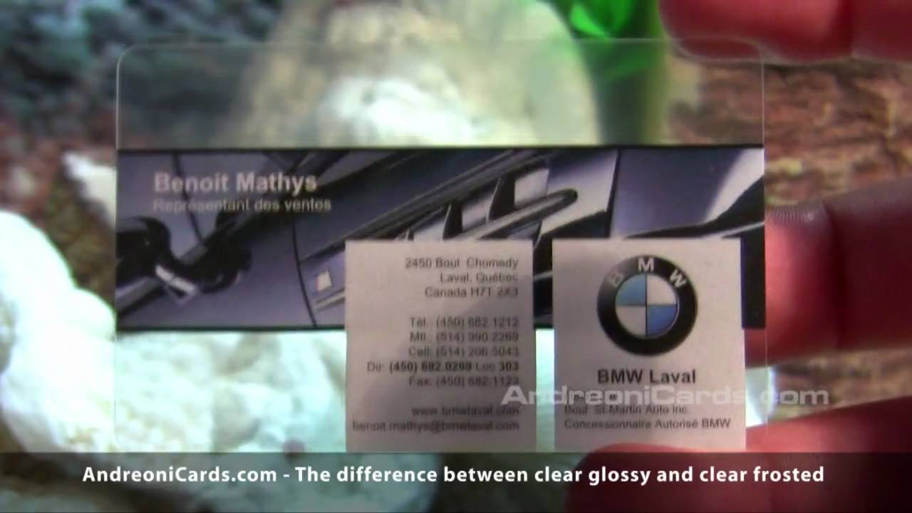 Translucent, Frosted and Clear Plastic Business Cards - YouTube