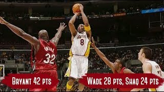 Miami Heat vs Los Angeles Lakers - Game Highlights | Dec 25, 2004 | Bryant 42, Wade 28, Shaq 24 HD