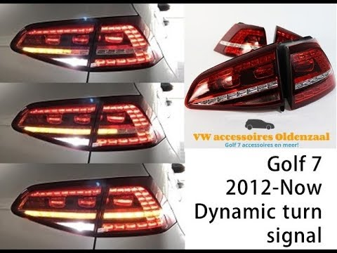 vw golf 7 dynamic turn signal youtube. Black Bedroom Furniture Sets. Home Design Ideas