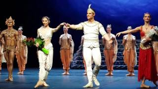 La Bayadere. Svetlana Zakharova. Michal Krcmar. Finnish opera. 29.01.16. Curtain call.