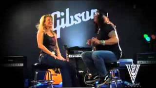 Elizabeth Vargas and Slash of Guns N Roses