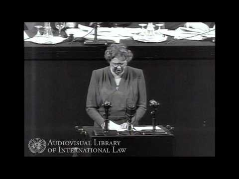 Eleanor Roosevelt on the adoption of the Universal Declaration of Human Rights - 1948