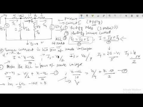 Node Voltage Method DC Network Theorem  Problem Solution # EE Tutorial 4