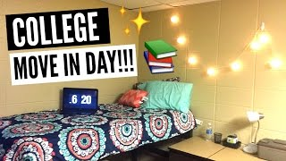 college move in day 2016 vlog