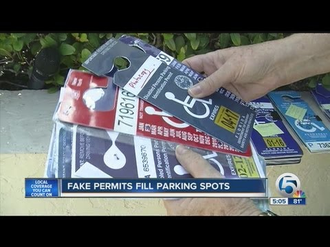 Fake permits fill parking spots
