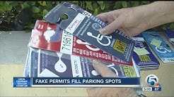 Fake permits fill parking spots