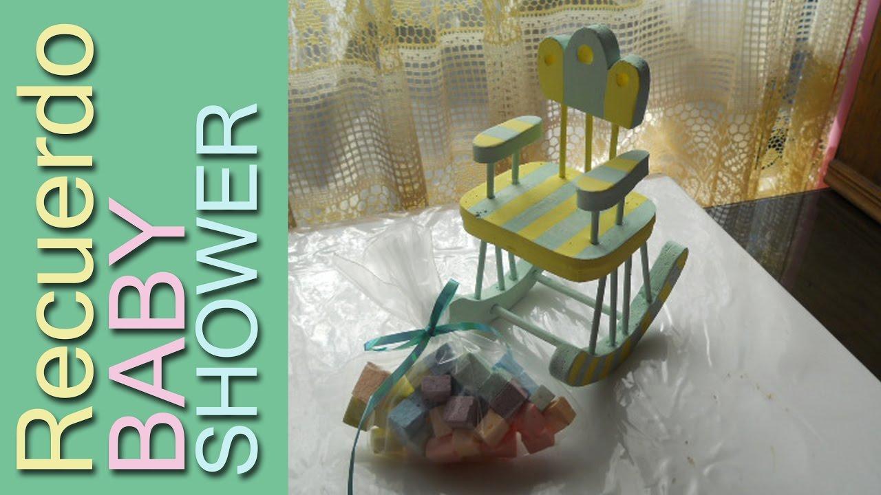 Como Hacer Una Mecedora Mini Para Baby Shower Silla Mecedora En