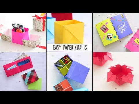 6 Easy Paper Crafts | Craft Ideas | Ventuno Art