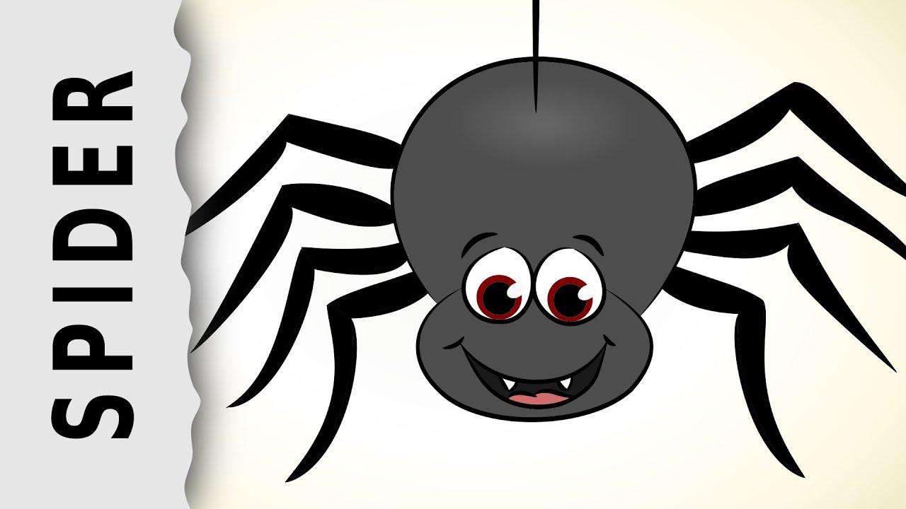 Картинка паук мультяшная