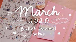 March 2020 Bullet Journal Setup (Lamb / Lion Theme) 🐑 🦁 | Rainbowholic
