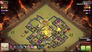 Clash of Clan :How To Attack clan War with velkyrie:Wiz:Hog:Archery