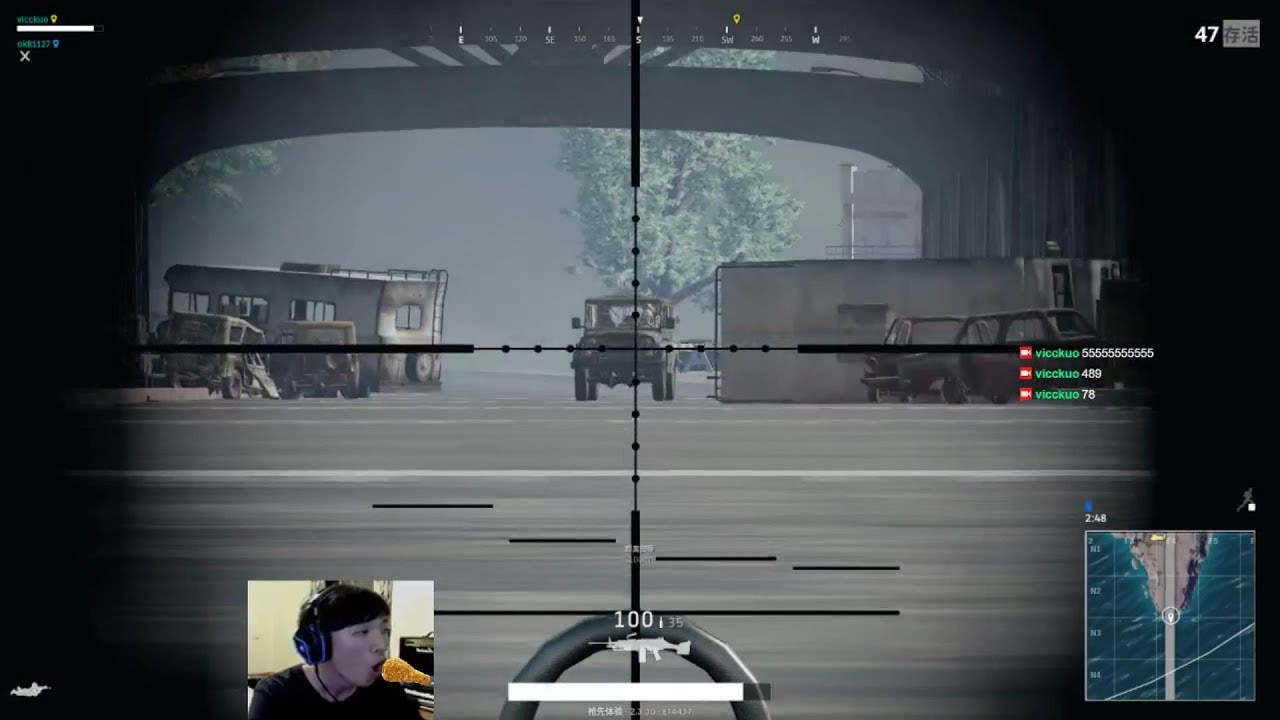 [PUBG] 15x scope + M249