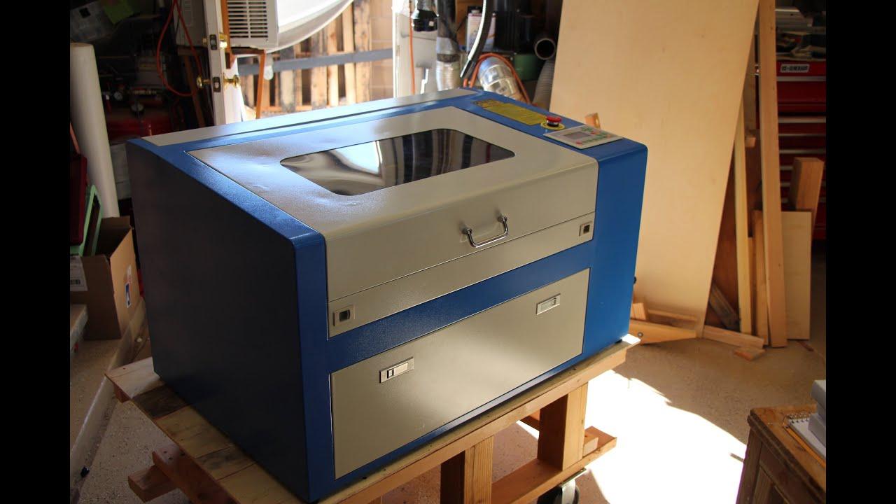 50 watt co2 laser engraver cutter from china un boxing doovi. Black Bedroom Furniture Sets. Home Design Ideas