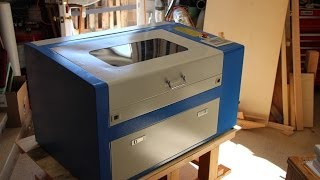 50 Watt CO2 Laser engraver cutter from China, Un-boxing and overview.
