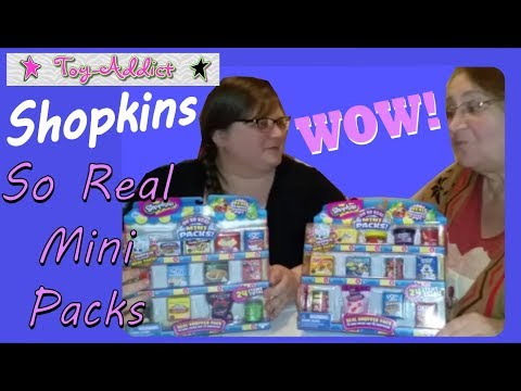 Shopkins Oh So Real Mini Packs ~ Real Food Containers ~ Toy-Addict