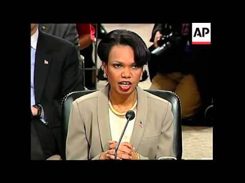 Condoleza Rice arrives to testify for 9 11 commission