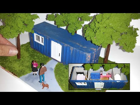 DIY Realistic Container House Diorama | See What's Inside! |