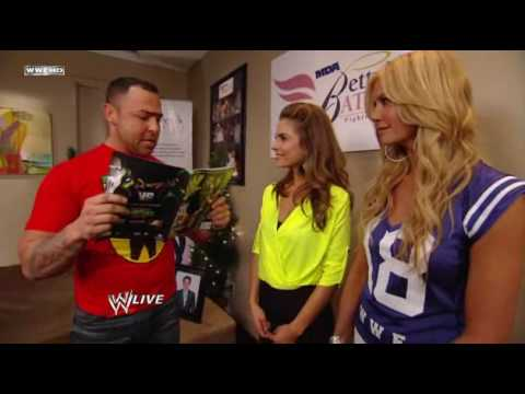 Raw Highlights  Guest Hosts Nancy O'Dell & Maria Menuonos