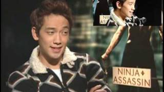 Korean Rain Bi 비 Ninja Assassin Movie Interview in New York City. Jung Ji Hoon