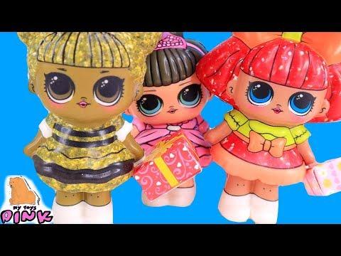 Куклы ЛОЛ СКВИШИ! Сюрприз НА СВАДЬБЕ! Мультики для Детей // Май Тойс Пинк