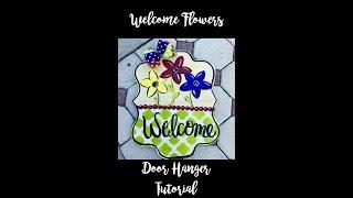 Flower Spring Welcome Door Hanger