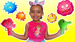 Wash Your Hands Song   Nursery Rhymes & Kids Songs - Leah's Play Time