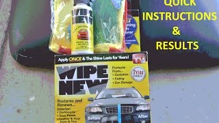 Wipe New Quick Instructions & Results