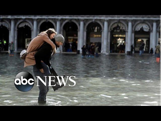Flooding emergency in Venice l ABC News