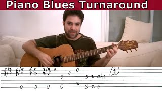 Guitar Tutorial: Piano-Style Blues Turnaround - Lesson w/ TAB