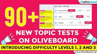 Introducing Difficulty Levels 1, 2, 3 | 90+ New Topic Tests | Amazing New Feature