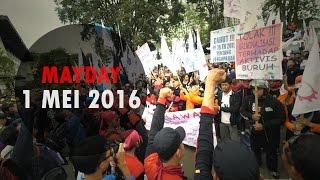 1 Mei 2016 MAY DAY Demo Buruh di Bandung Nge-Uber Offline Dulu