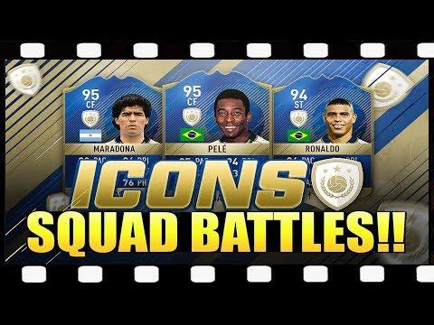 Zagrajmy w FIFA 18 Squad Battles #1 TRAFIŁEM IKONE !!!! 💥 💥 💥 Druga IKONA na Polskim YouTube