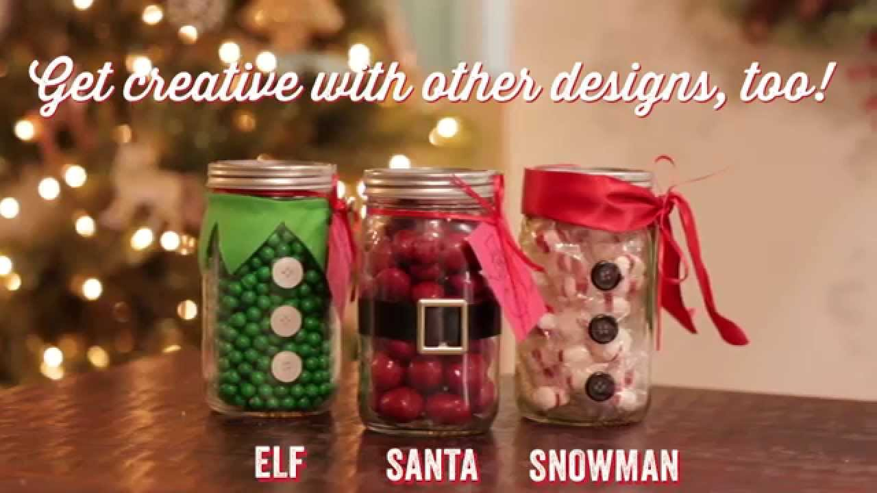 christmas diy mason jar teacher gift youtube - Christmas Jar Decorations