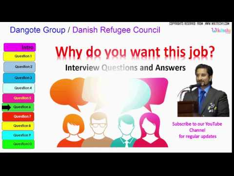 dangote group | danish refugee council top most interview questions and answers for freshers