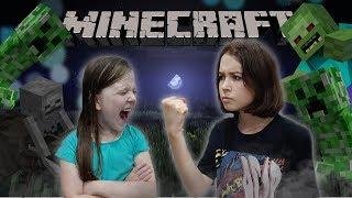 ИГРАЮ В Minecraft с МЛАДШЕЙ СЕСТРОЙ...