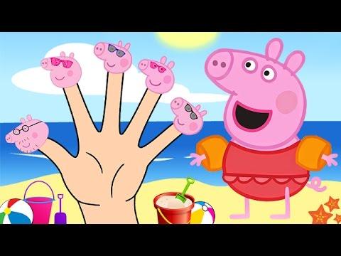 Peppa Pig Summer Finger Family Nursery Rhymes Lyrics