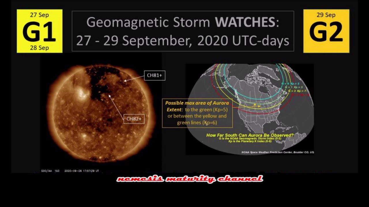 A Large Hole in the Sun's Atmosphere is Facing Earth - G1- G2 Geomagnetic Storm Watches Sept. 27-29
