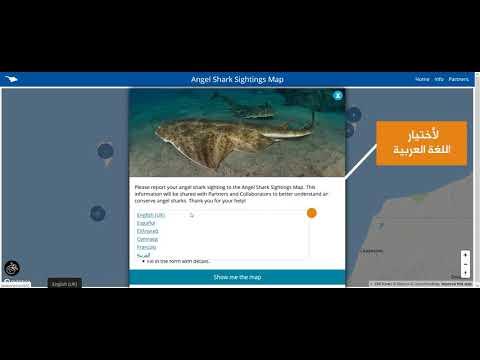 فيديو توضيحي لطريقة استخدام (خريطة مشاهدات القرش الملاك )