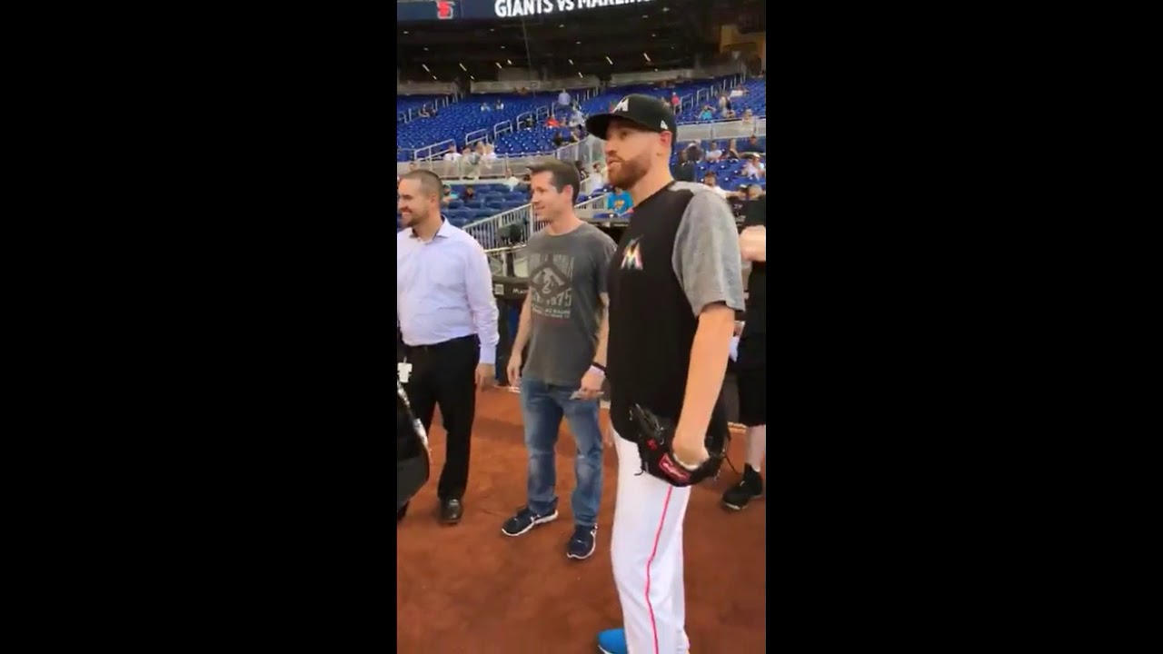 Colby Covington Throws Out First Pitch At Miami Marlins Game - YouTube 3668f33b3