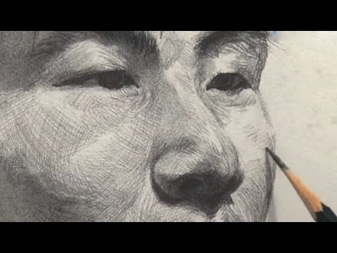 Young man Portrait Drawing in Pencil | Time-Lapse