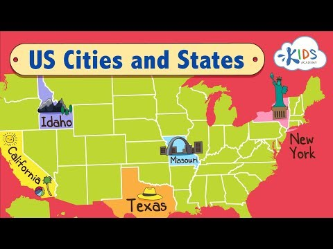 US Cities And States | Learn The Geographic Regions Of The USA | Kids Academy